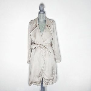 NEW Bagatelle Belted Waterfall Trench Coat Sz S
